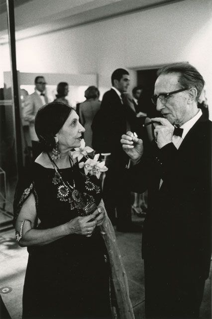 Beatrice Wood and Marcel Duchamp, 1963, by Julian Wasser