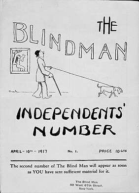 The Blind Man 1, eds. Marcel Duchamp, Beatrice Wood, and Henri-Pierre Roché (New York, April 10, 1917), cover.